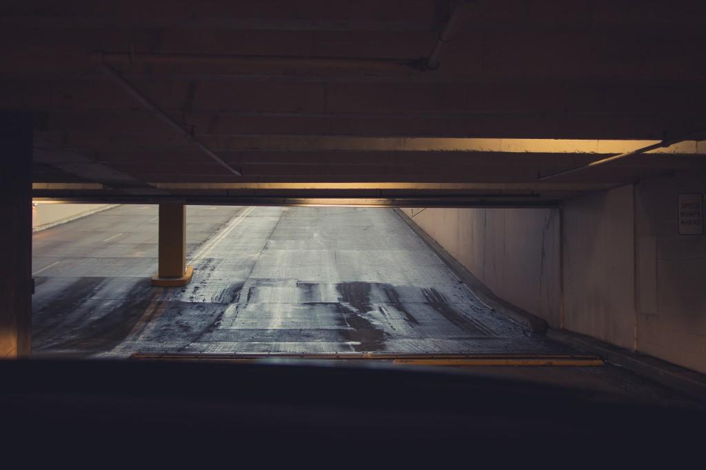 spiky car parking lot underground sound designer